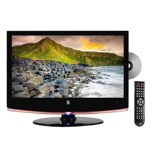 19'' Hi-Definition LCD Flat Panel TV w/ Built-In DVD Player
