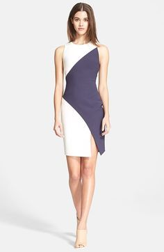 Elizabeth and James 'Klein' Colorblock Stretch Knit Dress available at #Nordstrom