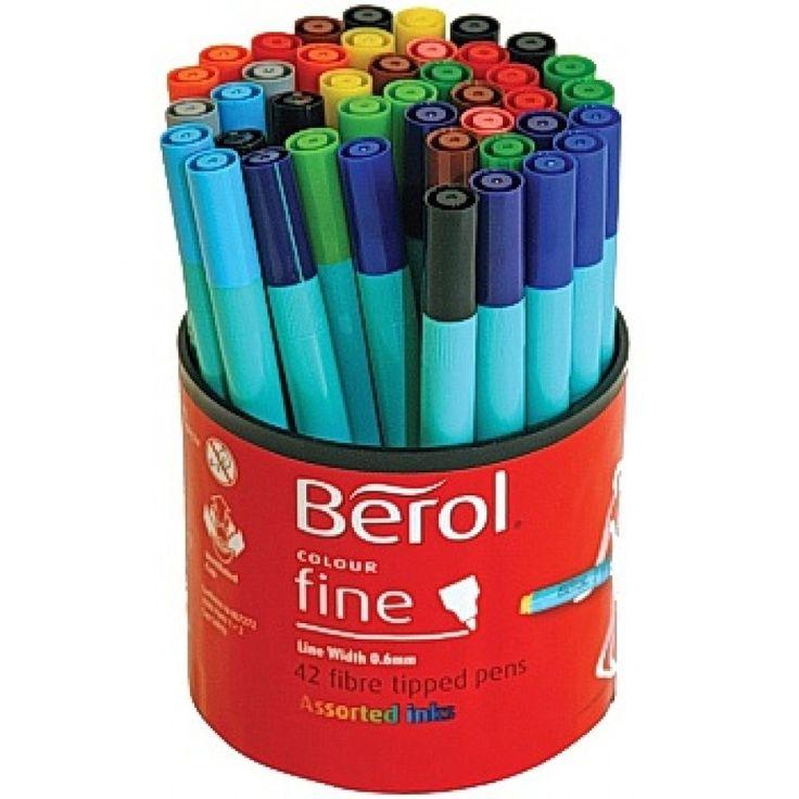 Fiberpenna Berol Colourfine 42 pennor