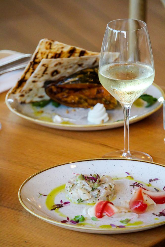 Plated Weddings Menu // Kingfish ceviche