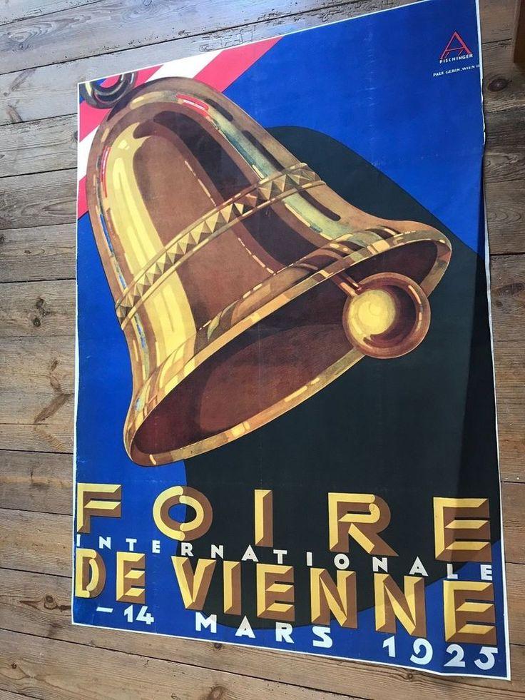 AFFICHE FOIRE DE VIENNE 1925 AUGUSTE FISCHINGER PLAKAT WIENER