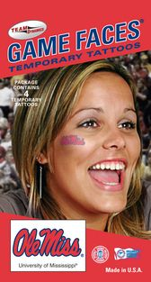 No game day outfit is complete without a temporary face tattoo! Show your Ole Miss spirit this weekend in the Grove with these!