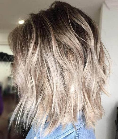 50 peinados Bombshell Blonde Balayage que son lindos y fáciles #balayage #bl … cabello corto