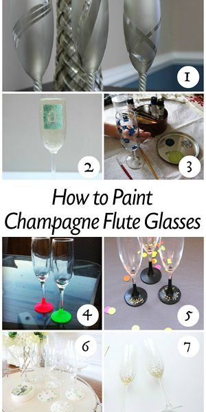 How to Paint Champagne Flute Glasses