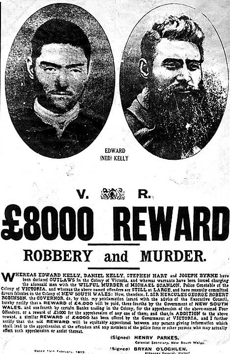 Ned Kelly's Wanted Poster.