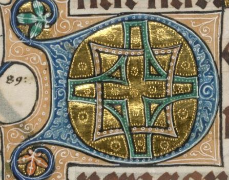 Detail from The Luttrell Psalter, British Library Add MS 42130 (medieval manuscript,1325-1340), f163v