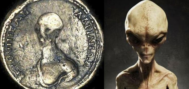 Ancient Coins Depicting Aliens And UFOs Are The Proof Alien Lived Among Us