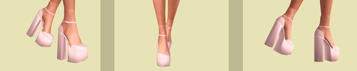 Chunky Shoes Collection:Additional Information: -5 shoes. -Fully recolorable. -Compatible with accessory socks. -You need OMSP to lift your sims above the ground. -Sorry for the ankles,but a little...
