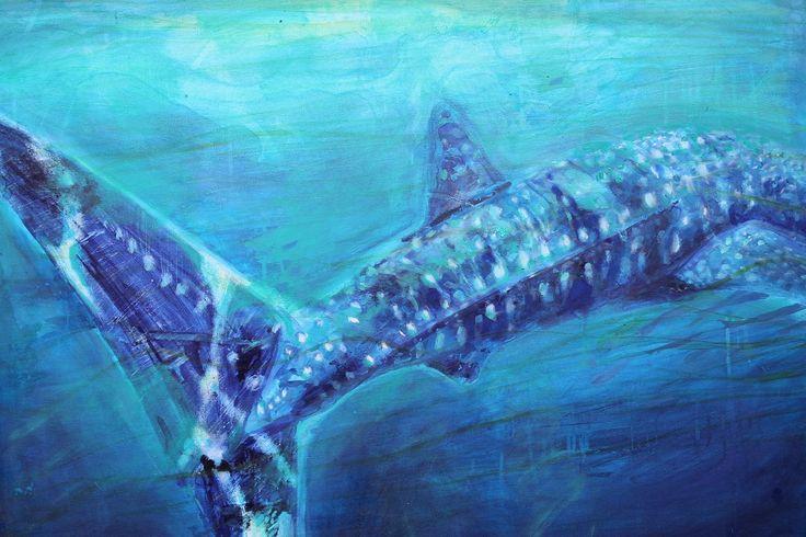 whale shark painting by artist Olivia Samec, Western Australia