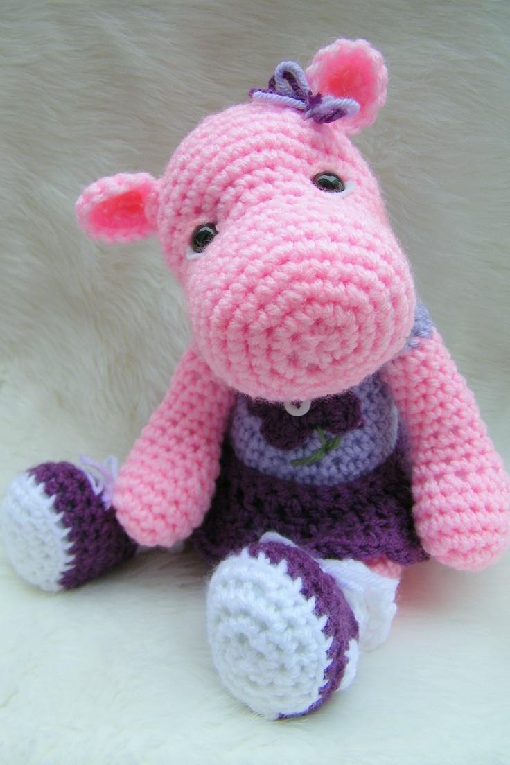 hippo.Crochet Toys, Crochet Animal, Hippo Toys, Crochet Amigurumi, Toys Crochet, Stuffrd Animal, Teri Crew, Crochet Patterns, Diy Projects