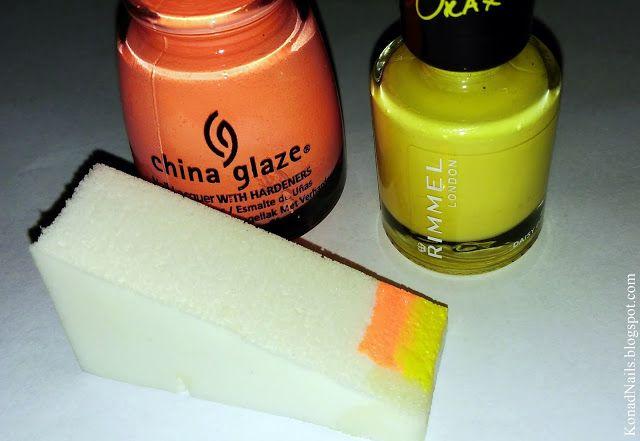 Sponge is very useful in gradient design!