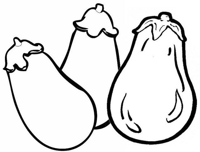 Top Eggplant A Superfood Coloring Page For Child