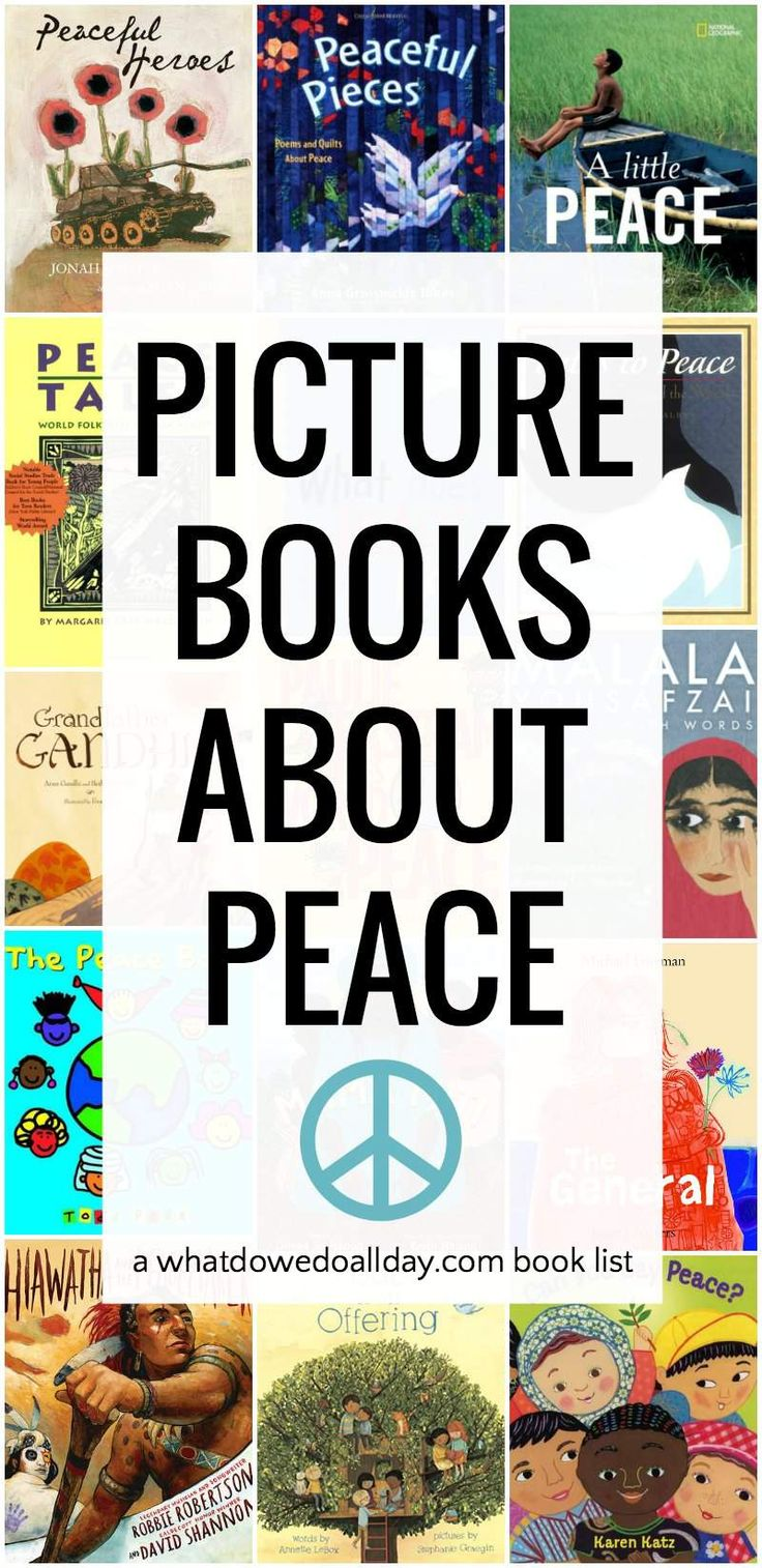 Best peace books for children. Picture books and inspiring biographies.
