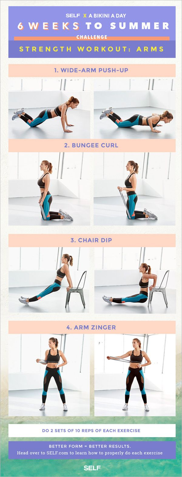 OK. Here's what you need to know about this workout:  YOU'LL NEED A resistance band and a sturdy household chair. (But heads up — if you don't have a resistance band, we'll offer some modifications below, don't sweat it.)  DO 2 sets of 10 reps for each move.