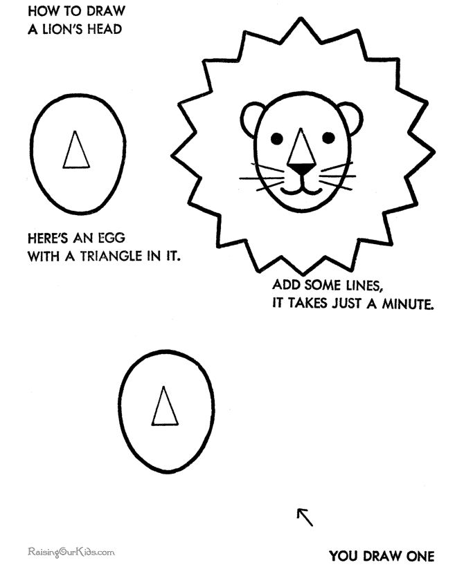 Simple drawings for kids - How to draw a lion