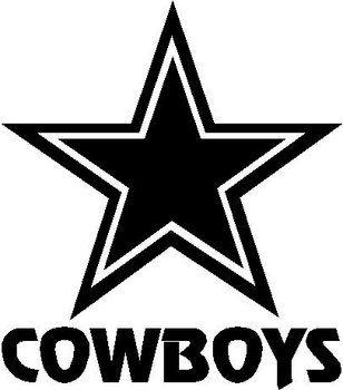Cowboys stencil
