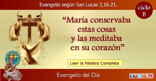 MISIONEROS DE LA PALABRA DIVINA: EVANGELIO - SAN LUCAS 2,16-21