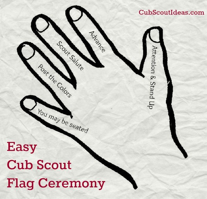 Are you looking for a Cub Scout flag ceremony that will be easy for the Scouts to remember? Check out this Five Finger Flag Ceremony--perfect for the boys!