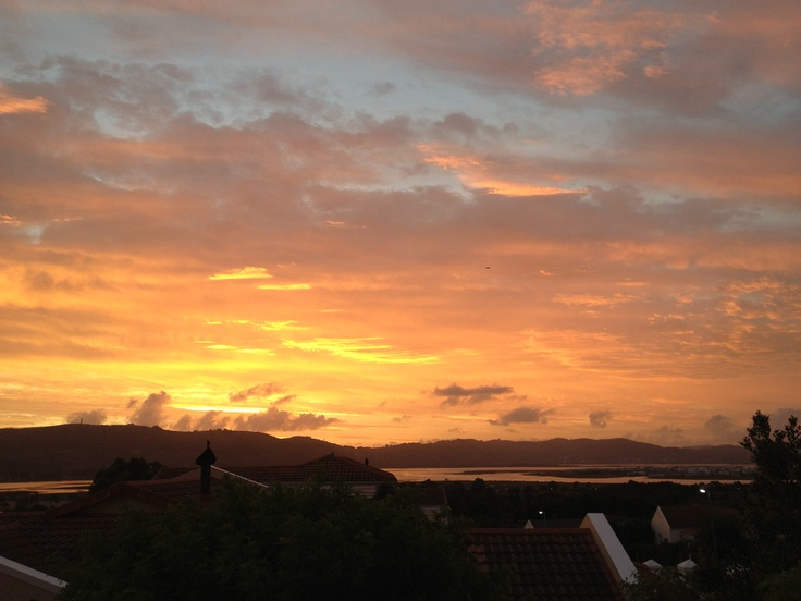 Burning sunset, breathtaking - Knysna, South Africa
