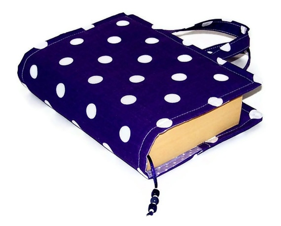 Book Bag Cover Purple Polka Dots £16.00