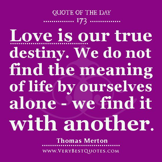 Our love for each other is our true destiny :) <3