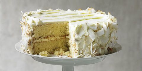 Try Alison Walker's delicious lime and coconut cake, a modern take on traditional Victoria sponge, scented with tangy lime and coated with toasted coconut.