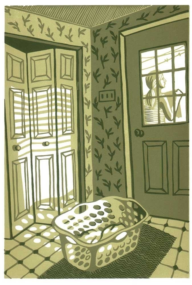 Natalia Moroz - MONDAY AFTERNOON. LAUNDRY. Reduction Print