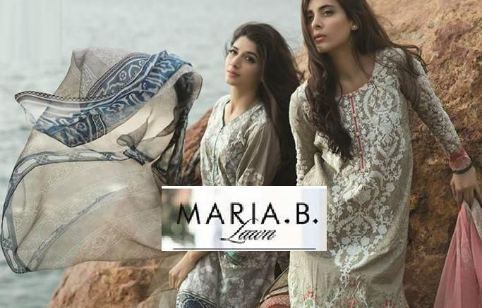 Maria B Lawn Spring Summer 2015 Collection by Reshma Textile