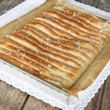 Randigt brytbröd med flingsalt