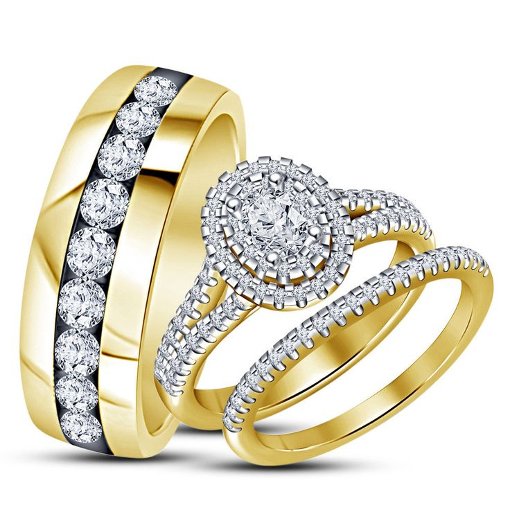 2185 best Trio Ring Set images on Pinterest Diamond engagement