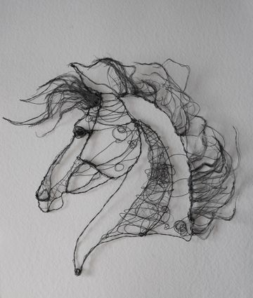 Jessica Robyn Wright-  wire horse art. Sculpture
