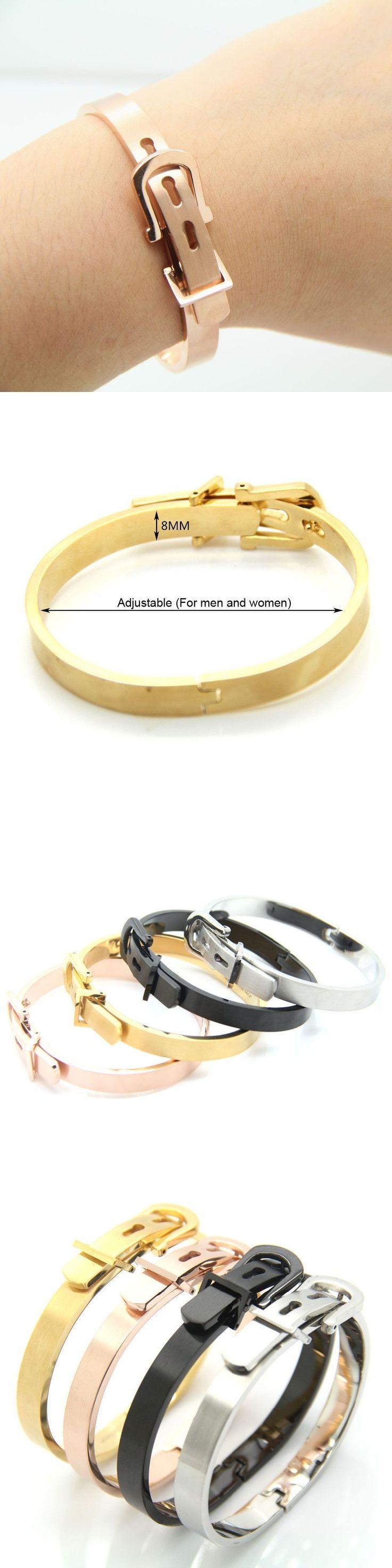 Famous Fashion Brand Jewelry Bangle Unisex Women/Men Jewelry Wholesale 4 Colors Gold Color Round Trendy Belt Bracelets Bangles