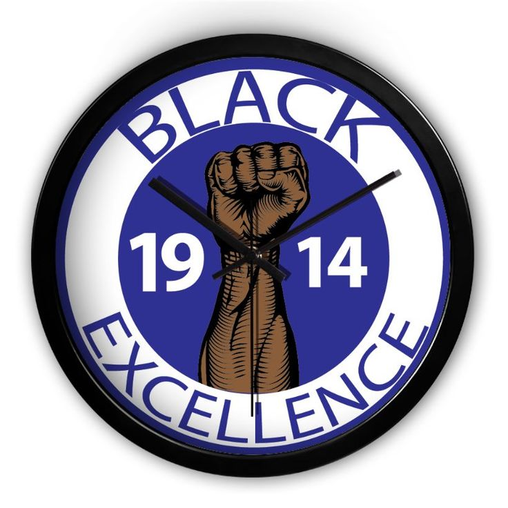 1914 Black Excellence 2 Black Wall Clock, Silent Non Ticking Quality Quartz operated Multisized(10inch,12inch,14inch) Round Easy to Read For Home Office School Clock