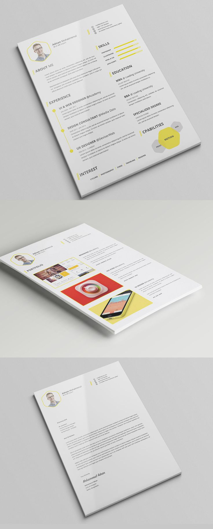 17 best images about creative cv resume premium cv resume psd template cover letter on behance
