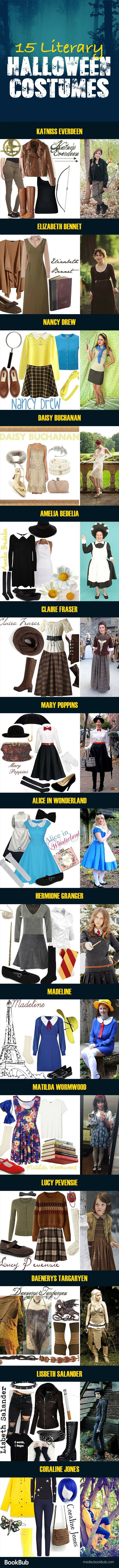15 Halloween costume ideas for adults and for teens. These bookish Halloween costumes are great for bookworms looking for creative ideas!