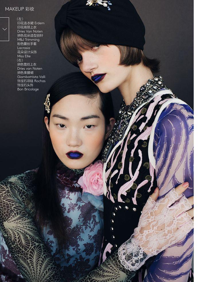 Peyton Knight & Hyunji Shin by Regan Cameron for Vogue China March 2016