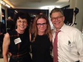 Both Politician AND Comedian - Al Franken and wife with Columbia University - Nutrition grad student, Colleen O'Brien.