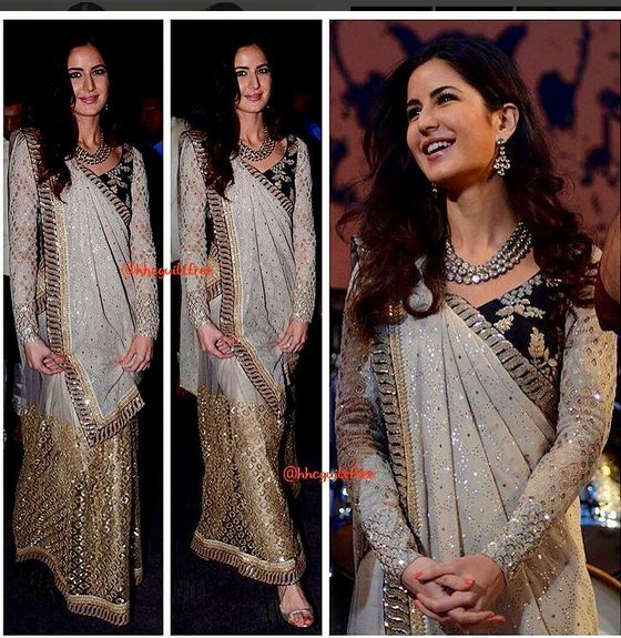Katrina Kaif In An Embroidered Dress .For This Dress you may drop a mail at contact@ladyselection.com