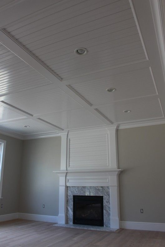 Beadboard Recess Panel Ceiling Custom Home Finish High