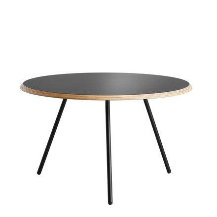 Woud - Soround Side Table H 44 cm / Ø 60 cm, Laminat schwarz (Fenix) Schwarz H:44