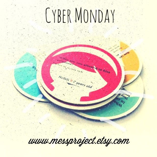 Cyber Monday sales until 3-12! All you have to do is to add the code: CYBER20 during check out box. You ll get 20% discount shopwide!  https://www.etsy.com/shop/MessProject  #papergoods #etsy #cybermonday