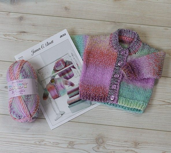 Jacket And Blanket In James C Brett Baby Marble Chunky