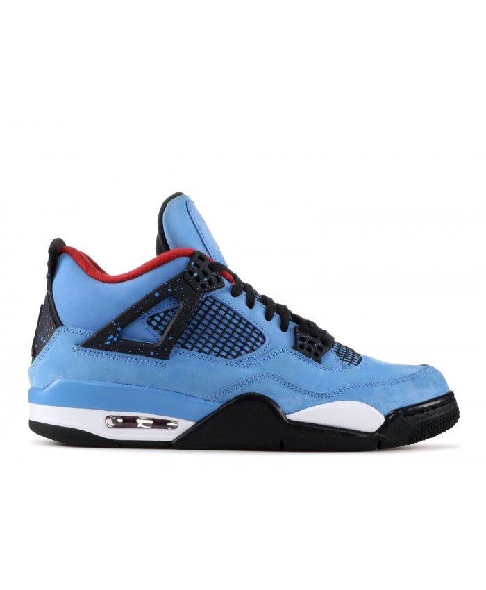 pretty nice ace06 d3317 Nike Air Jordan 4 Retro Cactus Jack University Blue Black Outlet