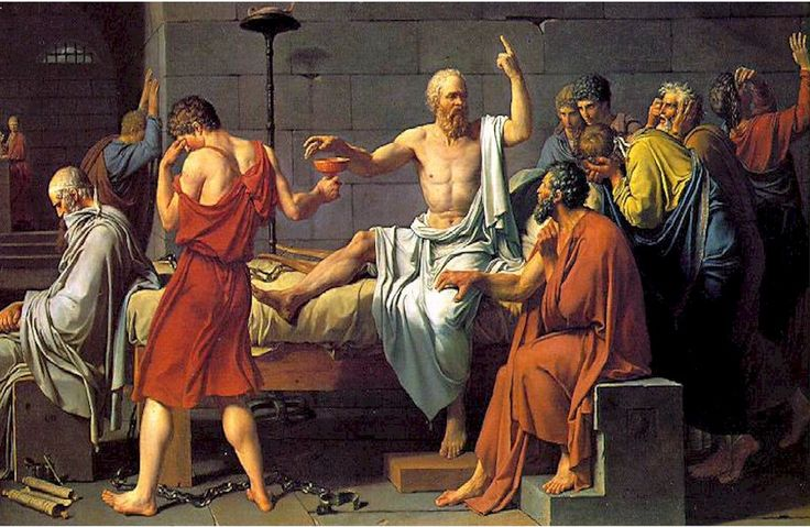 Socrates (469 BCE- 399 BCE). I love this painting! And I love this quote from him: 'I am the wisest man alive, for I know one thing, and that is that I know nothing.' I think he was one of the greatest influences during the Classical Period.