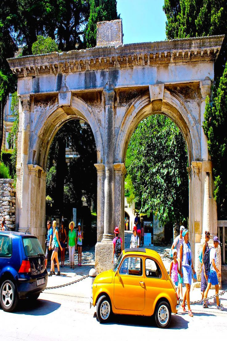 The Roman gates to the city of Pula Croatia