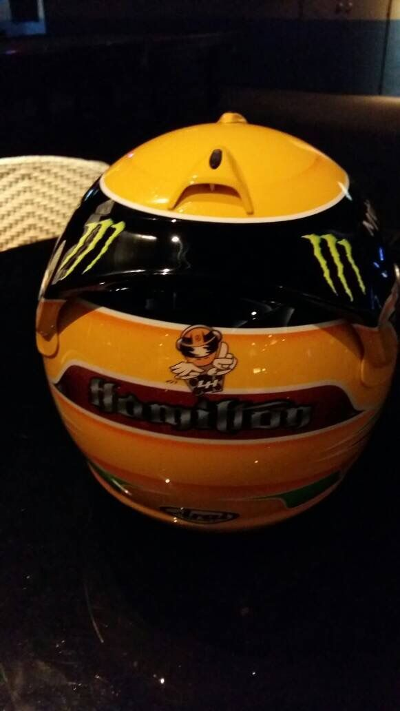 F1 Helmet 4 Sale. DM for arrangement #F1 #Helmet #lewishamilton #fia #mercedes #sale #collection #collector #formula1