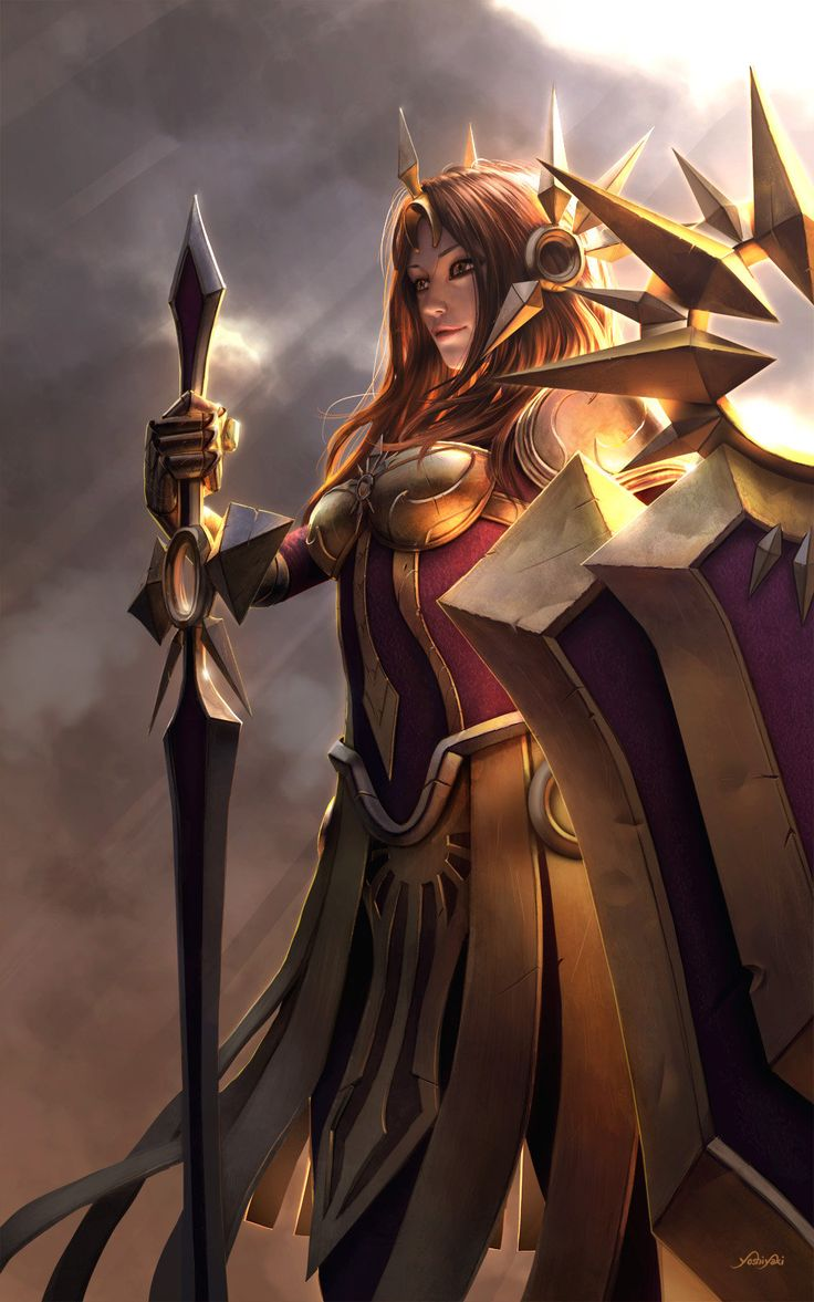 Leona from League of Legends, Cassio Yoshiyaki on ArtStation at http://www.artstation.com/artwork/leona-from-league-of-legends