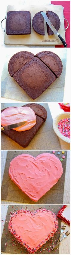 How to Make a Valentine's Day Heart-Shaped Cake
