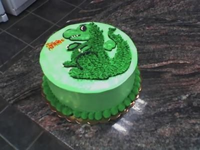 Happy Birthday- dragon cake