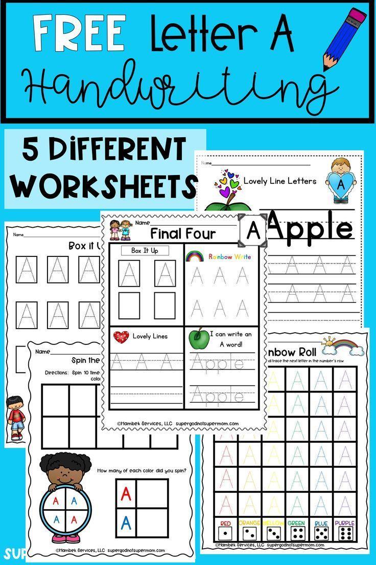 Free Letter A Handwriting Worksheets For Your Preschool Or Kindergarten Students G Alphabet Activities Preschool Free Lettering Alphabet Handwriting Practice [ 1104 x 736 Pixel ]